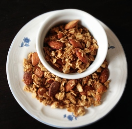 granola bowl and plate